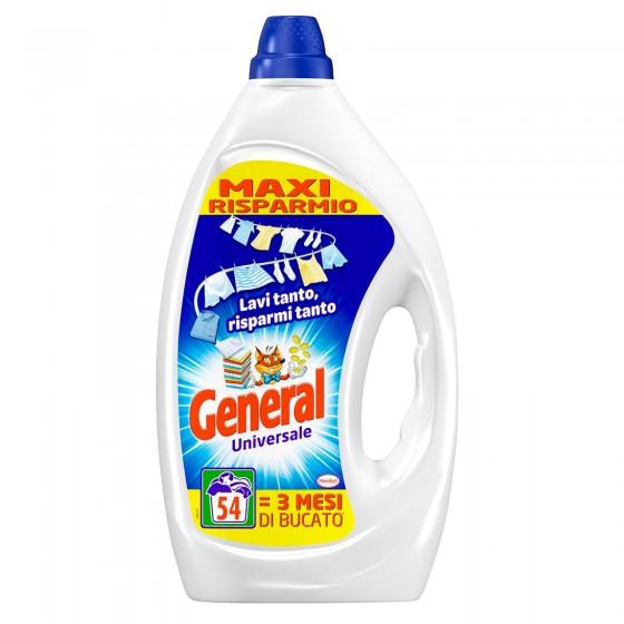 General Universale Detersivo Liquido per Lavatrice - Flacone da 2,7 Litri