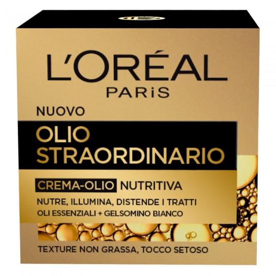 L'Oréal Paris Olio Straordinario Crema-Olio Viso Nutritiva con Olio di Gelsomino Bianco