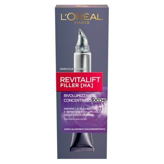 L'Oréal Paris Revitalift Filler [HA] Crema Contorno Occhi Concentrata Rivolumizzante con Acido Ialuronico