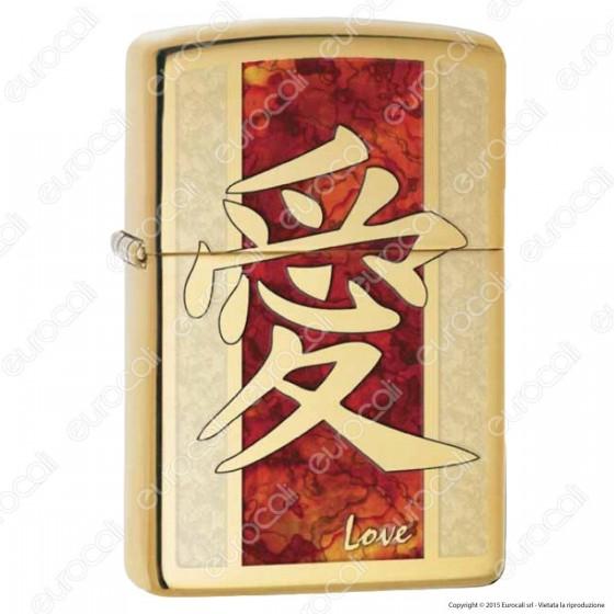 Accendino Zippo Mod. 28953 Chinese Love - Ricaricabile Antivento