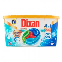 Dixan Discs Azione Anti Odore 4in1 Detersivo per Lavatrice - Confezione da 25 Capsule