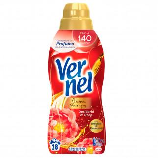 Vernel Aromatherapy Desiderio di Rosa Ammorbidente Concentrato con Oli Preziosi - Flacone da 700ml