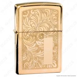 Accendino Zippo Mod. 352B Veneziano Brass - Ricaricabile Antivento