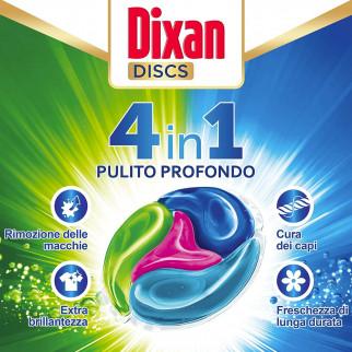 Dixan Discs Multicolor Detersivo in Capsule per Lavatrice - Confezione da 36 Capsule