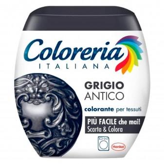 Grey Coloreria Italiana Colorante per Tessuti per Lavatrice Colore Grigio Antico - Confezione Monodose