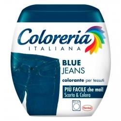 Grey Coloreria Italiana Colorante per Tessuti per Lavatrice Colore Blue Jeans - Confezione Monodose