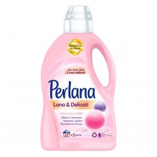 Perlana Care Advanced Lana e Delicati Cura delle Fibre Detersivo Liquido per Lavatrice e a Mano - Flaconde da 1,5 Litri
