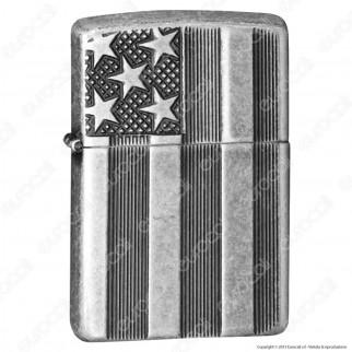 Accendino Zippo Mod. 28974 US Flag - Ricaricabile Antivento