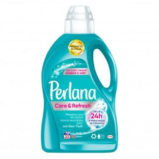 Perlana Care and Refresh Detersivo Liquido con Deo Tech per Lavatrice e a Mano - Flacone da 1,5 Litri