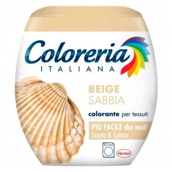 Grey Coloreria Italiana Colorante per Tessuti per Lavatrice Colore Beige Sabbia - Confezione Monodose