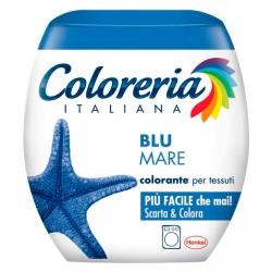 Grey Coloreria Italiana Colorante per Tessuti per Lavatrice Colore Blu Mare - Confezione Monodose