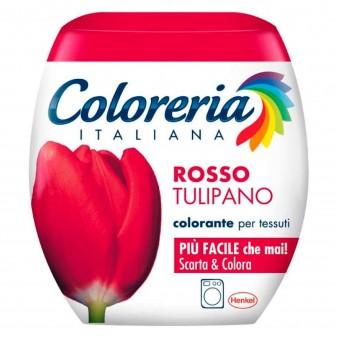 Grey Coloreria Italiana Colorante per Tessuti per Lavatrice Colore Rosso Tulipano - Confezione Monodose