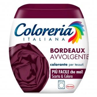 Grey Coloreria Italiana Colorante per Tessuti per Lavatrice Colore Bordeaux Avvolgente - Confezione Monodose