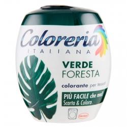 Grey Coloreria Italiana Colorante per Tessuti per Lavatrice Colore Verde Foresta - Confezione Monodose