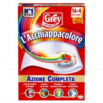 Grey l'Acchiappacolore per Lavatrice Bucati Misti e Colori Brillanti - Confezione da 20 Fogli