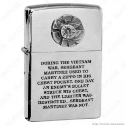 Accendino Zippo Mod. 200BU Bullet Placca - Ricaricabile Antivento