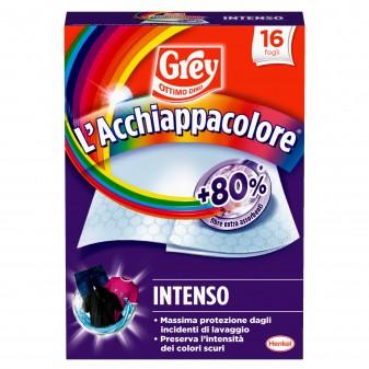 Grey L'Acchiappacolore Intenso per Lavatrice - Confezione da 16 Fogli