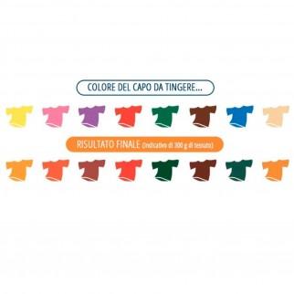 Grey Coloreria Italiana Colorante per Tessuti per Lavatrice Colore Arancione Brillante - Confezione Monodose