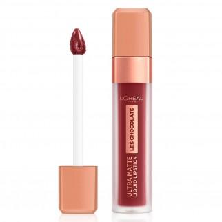 L'Oréal Paris Les Chocolats Ultra Matte Liquid Lipstick Kit Tinte Labbra Colori Assortiti Profumo al Cioccolato - 6 Tinte