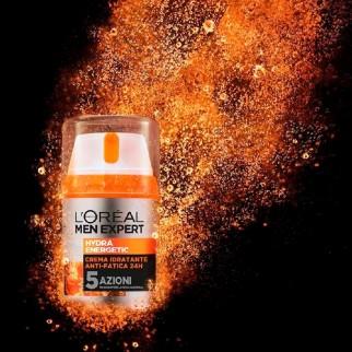 L'Oréal Paris Men Expert Hydra Energetic Crema Viso Idratante Anti-Fatica 24h con Vitamina C e Guaranà