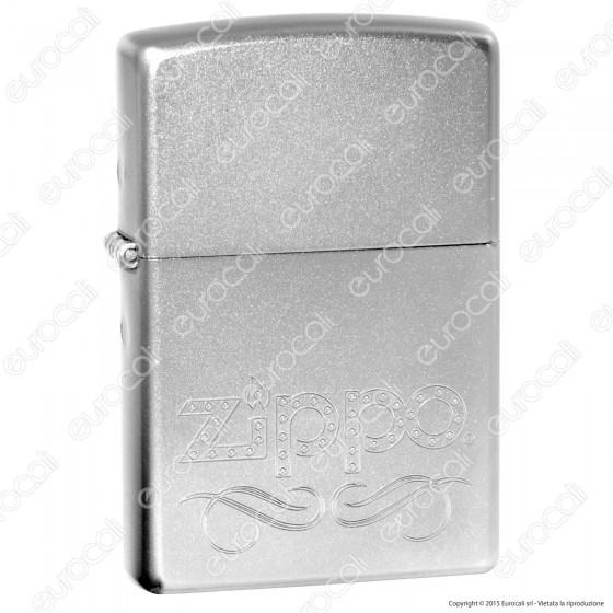 Accendino Zippo Mod. 24335 Scroll Logo - Ricaricabile Antivento