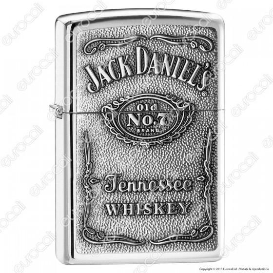 Accendino Zippo Mod. 250JD-427 Jack Daniels® Label - Ricaricabile Antivento