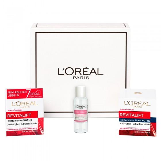 L'Oréal Paris Revitalift Kit Viso Giorgno e Notte Anti-Rughe Rassodante Idratante con Pro-Retinolo