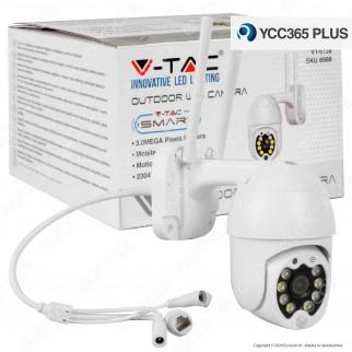 V-Tac VT-5158 Telecamera di Sorveglianza Wifi IP PTZ 3MP 8 LED - SKU 8988