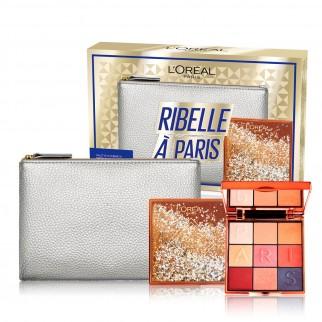 L'Oréal Paris Ribelle à Paris Pochette Brillante Palette 9 Ombretti Matte e Satinati Colori Intensi