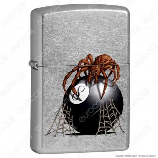 Accendino Zippo Mod. 14N034 Eight Ball Spider - Ricaricabile Antivento