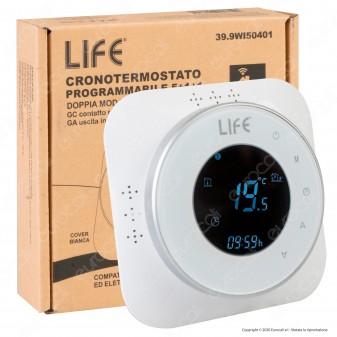 Life Cronotermostato Digitale Programmabile Wi-Fi con Display per Caldaia o Elettrovalvola - mod. 39.9WI50401