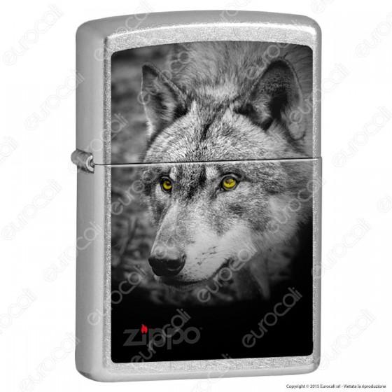 Accendino Zippo Mod. 13M036 Wolf - Ricaricabile Antivento