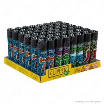 Clipper Large Fantasia Color Instruments - Box da 48 Accendini
