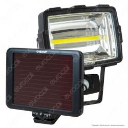 Velamp INCA Faretto LED COB 10W a Batteria con Pannello Solare e Sensore di Movimento - mod. IS342