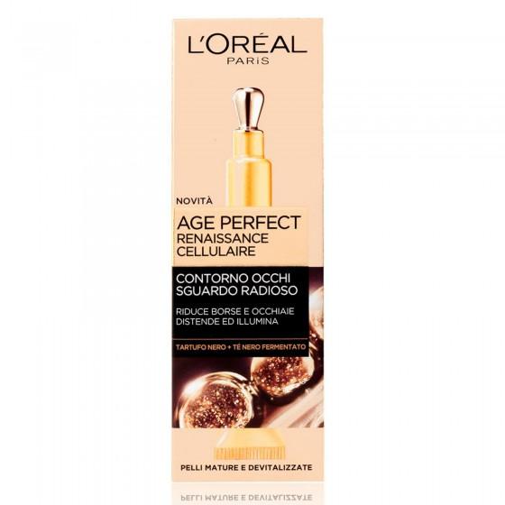L'Oréal Paris Age Perfect Renaissance Cellulaire Crema Contorno Occhi Concentrata Rigenerante con Tè Nero