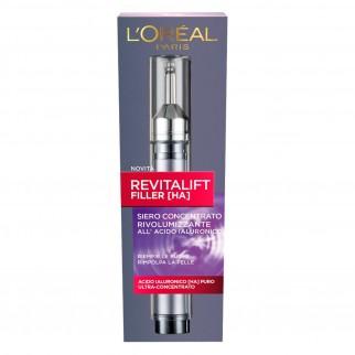 L'Oréal Paris Revitalift Filler Siero Concentrato Antirughe Rimpolpante Rivolumizzante con Acido Ialuronico