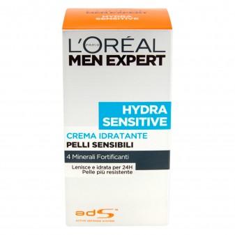 L'Oréal Paris Men Expert Hydra Sensitive Crema Viso Idratante Pelle Sensibile con 4 Minerali e Linfa di Betulla