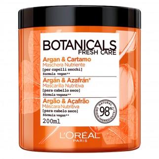 L'Oréal Paris Botanicals Fresh Care Maschera Nutriente con Argan e Cortamo - Barattolo da 200ml