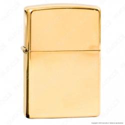 Accendino Zippo Mod. 254B Brass Lucido - Ricaricabile Antivento