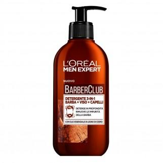 L'Oréal Paris Men Expert Barber Club Detergente 3in1 Viso Barba Capelli Idratante con Olio di Legno di Cedro
