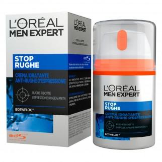 L'Oréal Paris Men Expert Stop Rughe Crema Viso Idratante Anti-Rughe d'Espressione con Boswelox