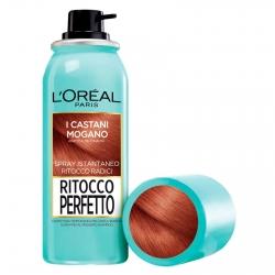 L'Oréal Paris Ritocco Perfetto Spray per Capelli Bianchi Colore 6 Castano Mogano
