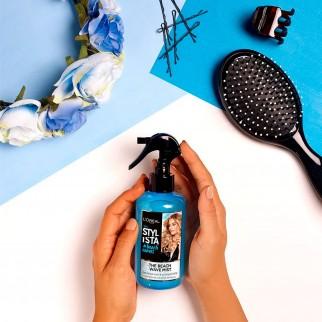 L'Oréal Paris Stylista Beach Waves Spray Capelli Mossi con Sale Marino Senza Siliconi