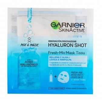 Garnier Skin Active Hyaluron Shot Fresh Mix Maschera in Tessuto Idratante e Rimpolpante con Acido Ialuronico