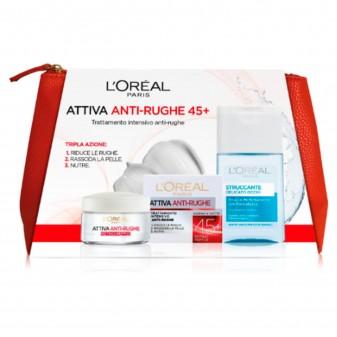 L'Oréal Paris Attiva Anti-Rughe 45+ Set Trattamento Intensivo Anti-Età