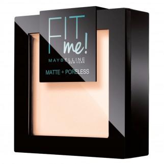 Maybelline New York Fit Me Matte & Poreless Cipria Opacizzante Colore 104 Soft Ivory con Applicatore e Specchietto