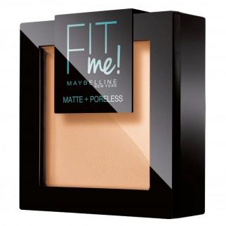 Maybelline New York Fit Me Matte & Poreless Cipria Opacizzante Colore 105 Natural con Applicatore e Specchietto