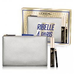 L'Oréal Paris Ribelle à Paris Pochette con Mascara Voluminous Ceramide R e Mini Matita Le Khol Nero Intenso