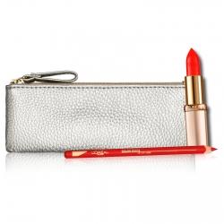 L'Oréal Paris Lipkit Pochette con Rossetto Color Riche Satin Colore 377 e Matita Labbra Color Riche Colore 125