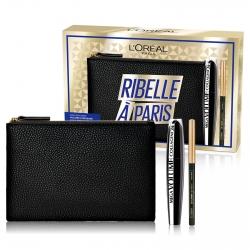 L'Oréal Paris Ribelle à Paris Pochette con Mascara Mega Volume con Collagene e Matita Le Liner Signature Waterproof